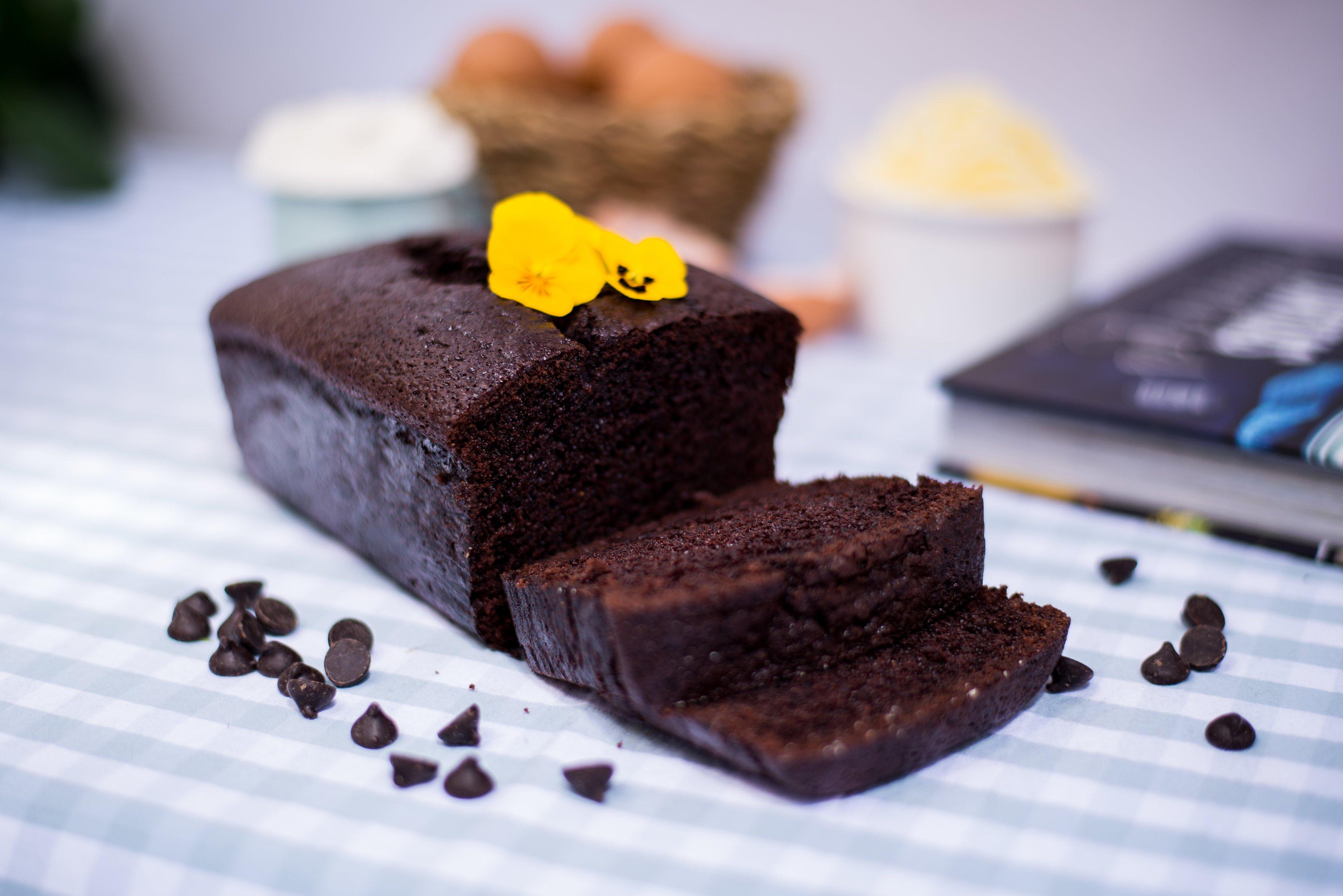 <b>Bizcocho de chocolate</b>  <br>suave y esponjoso