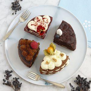 Tarta de cuatro sabores