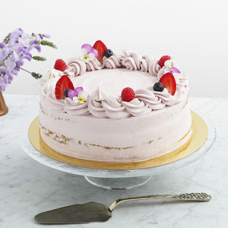 <b>Tarta de Fresas y Lavanda</b> <br>Delicada y deliciosa