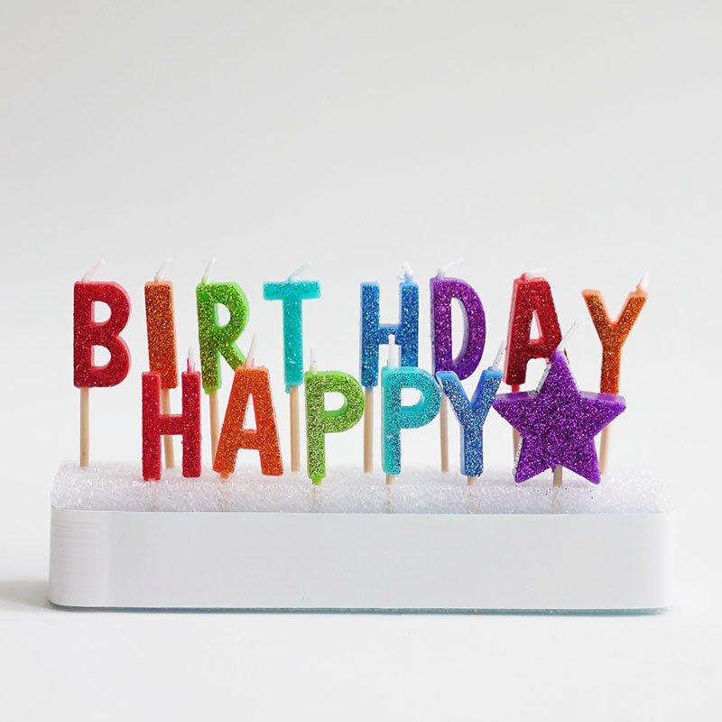 <b>Velas de cumpleaños Happy Birthday</b> <br> Mix, 14 unidades